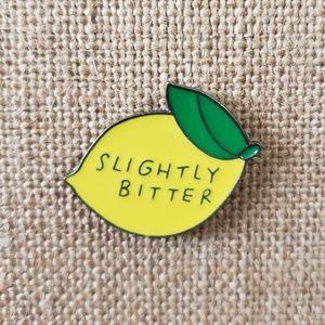 Jewelry - {5/$25} Slightly bitter lemon enamel pin